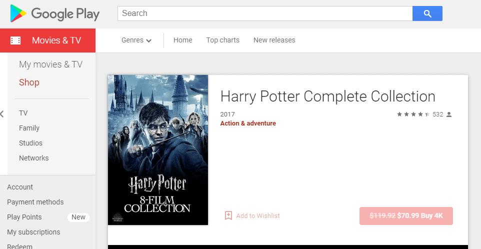 Is Harry Potter on Netflix?