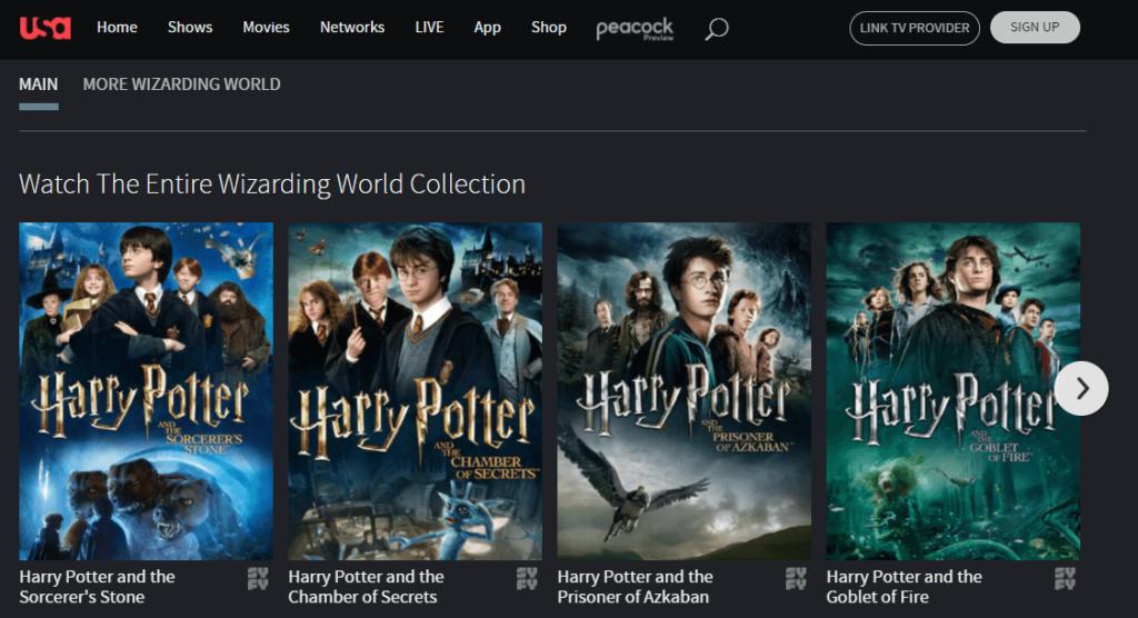 Is Harry Potter on Netflix