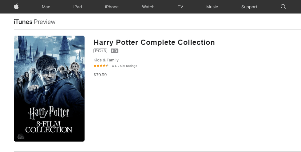 Watch Harry Potter Series