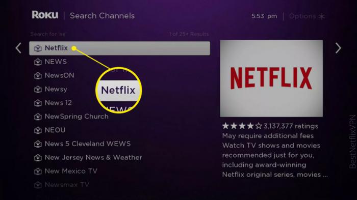 how to watch netflix on Roku
