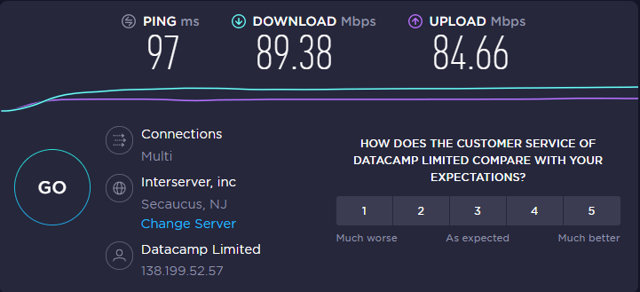 NordVPN speed test proving it does not slow down your internet