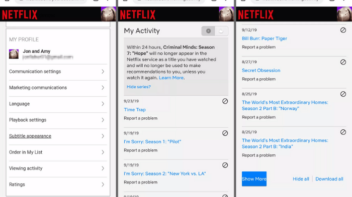how to remove something from continue watching on netflix