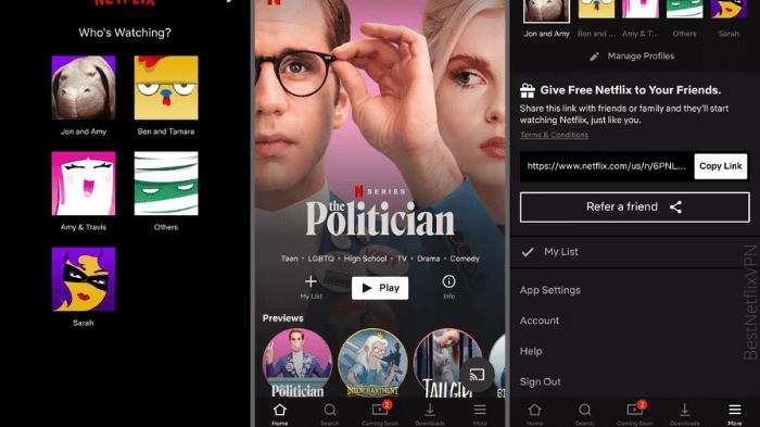 Manage Netflix Profiles on iOS