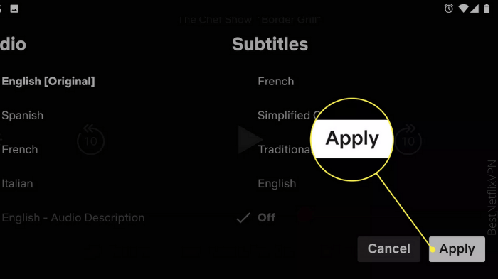 Subtitles on Android how to turn off subtitles on netflix
