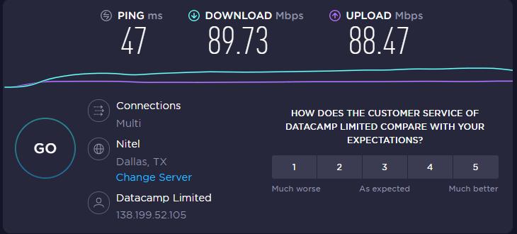 PureVPN - Speed Test