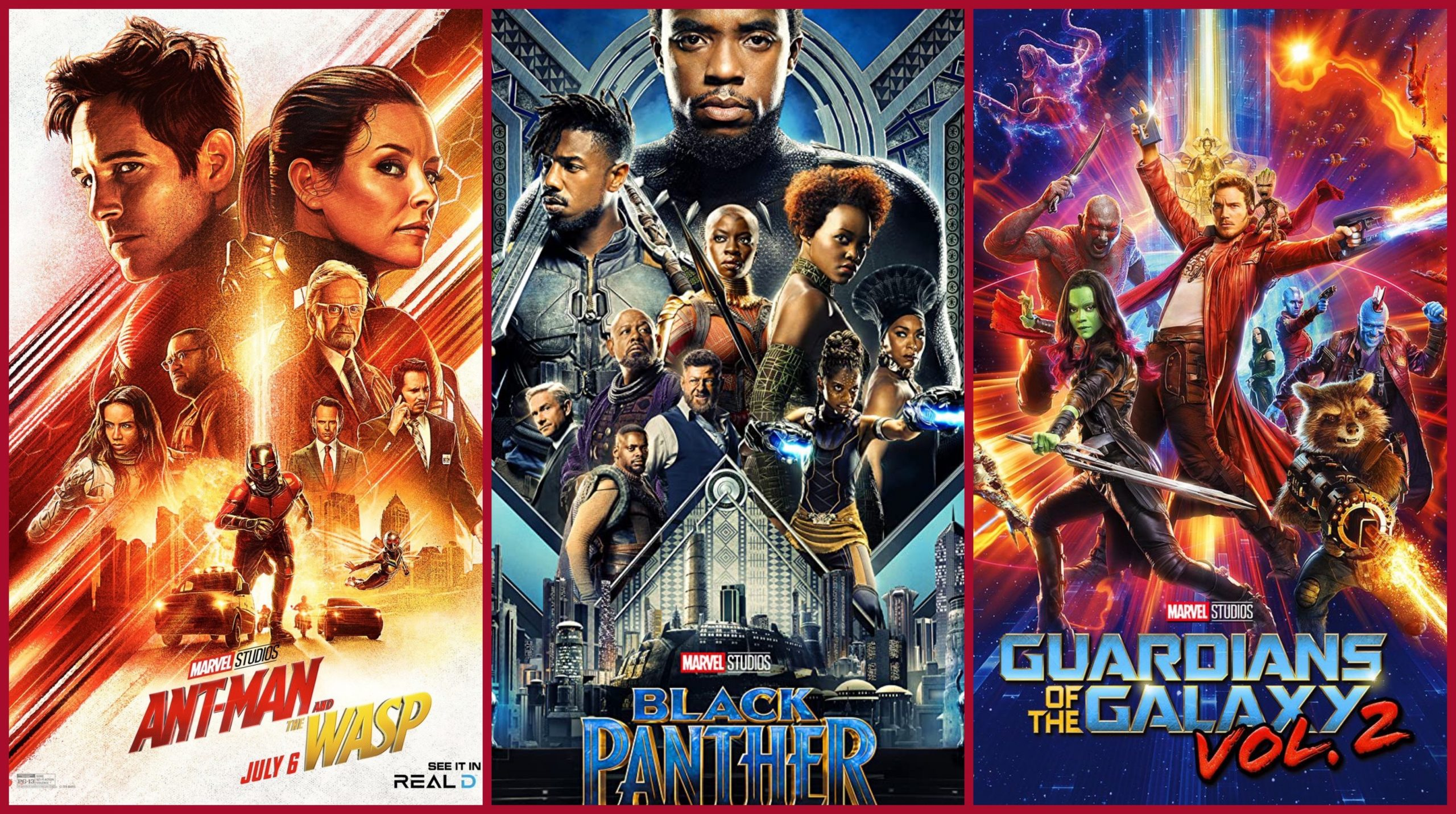 Black Panther, Ant-Man and the Was on netflix